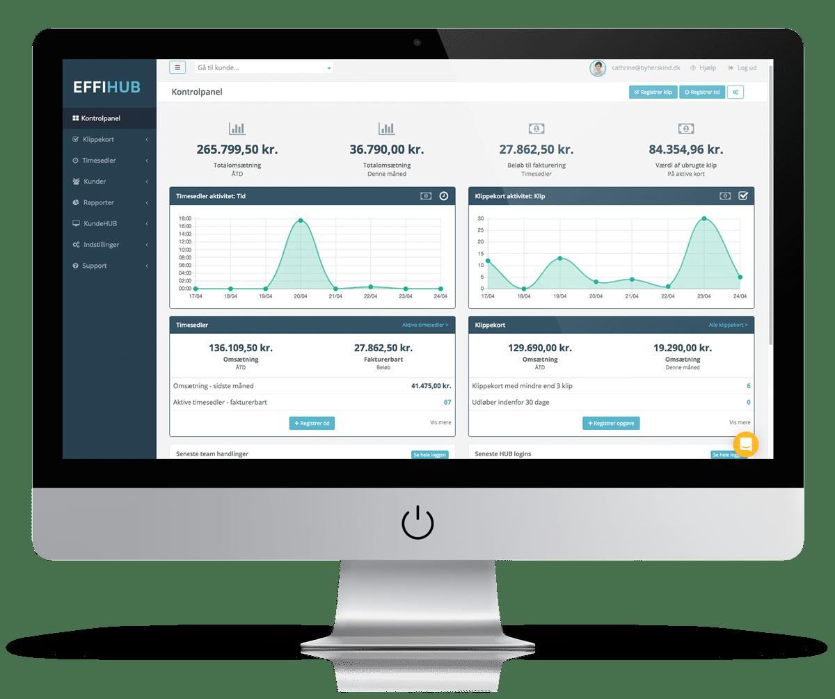 Effihub administrator interface